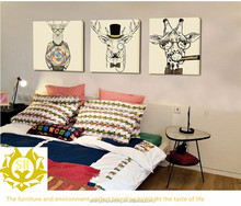 Modern Cartoon wall decoration frameless painting