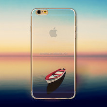 Factory price landscape pattern slim tpu cell phone back cover for iphone 4S