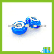 sterling silver millefiori murano beads fit bracelet decoration