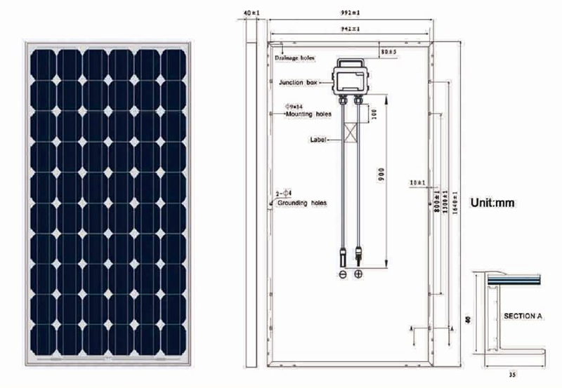 High efficiency TUV/CE/IEC/CEC Certificated 260w pv solar panel
