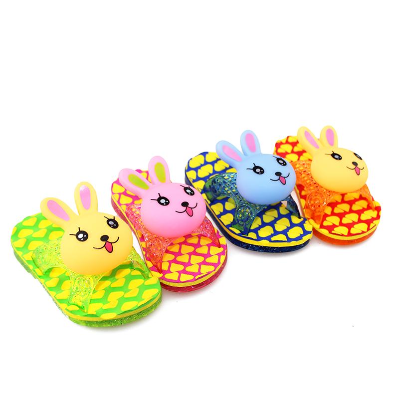 мультфильм кролик ребенка Тапочки девочка мальчик baby ребенка сандалии мигалкой Повседневная обувь дома обувь
