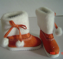 Pompom decoration,brown fabric made Candy Doll Shoes