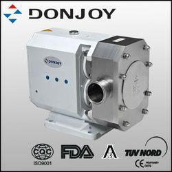 hygeinic stainless steel rotary lobe pumps for viscous media transfer