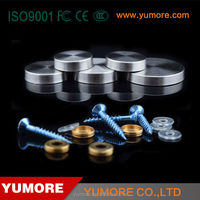 HIgh quality plastic ball screw cover caps countersunk hex stainless steel bolts and nuts screw for vise