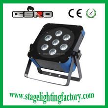 3w rgb led par DJ light,LED 7 Bead Flat PAR Light 3in1 China HOT 2015