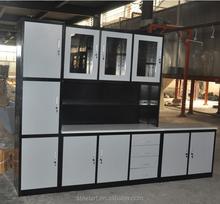 Free standing modular metal luxury kitchen cabinet