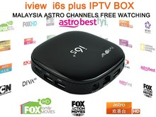 Original android tv box i6s plus 4k ASTRO Malaysia IPTV tv Box of 1 Year Service 190+ Channels for Malaysia