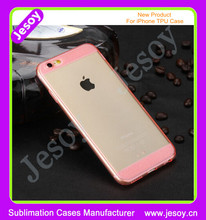 JESOY New Products Rubber Glitter Case For iPhone 6 6s TPU Cover Case Transparent Clear Case