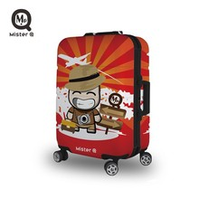 MISTER Q ABS/PC print color ODM wenzhou factory 3 piece luggage travel set