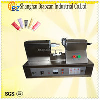 Manual hand cream tube seal machine with printing