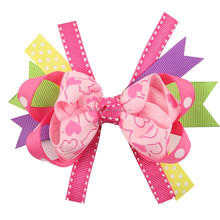 Colorful Ribbon Swallow Tail Style Hair Bow Headband Accessories