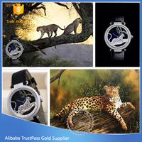 black leather watch unisex brand 30M waterproof wrist promotional price watch