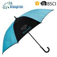 Fiberglass Frame Fashion Double Canopy Custom Print Golf Umbrella