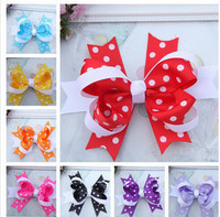 infant hair accessory girls hairclip latest style swallow-tailed christmas kids hair accessories
