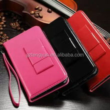Factory Price Wholesale leather Flip case for Samsung Note 4