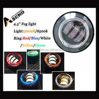 """Newest! motorcycle 4.5"""" led driving light, 30w led fog light with halo for Dyna, led 6500k round driving lights for Harley"""