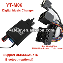 10pin plug with 17way round pin connector yatour bm1digital music changer BM1 e46 mp3 cd changer