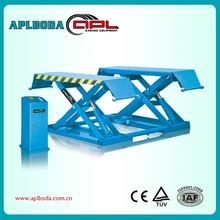 High quality guaranteed low rise scissor car lift with CE