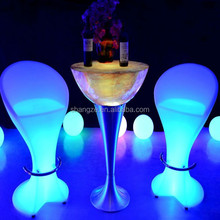 SZ-C54108 Waterproof luminous led chair/ Modern bar chair price/plastic bar chair