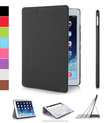 Ultra thin folio stand PU leather case for ipad air 2