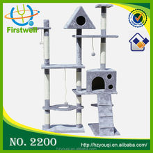 Top quality sisal cat tree top sale cat agility sets training products