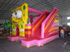 Inflatable cartoon combo with bouncer slide inflatable amusement park combo