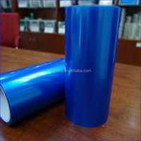 2014 new product blue grid pe high clear anti fingerprint anti crack film for screen protector roll
