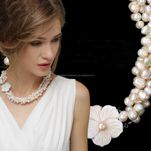 2015 Newest Classical Europe Vintage Style Multiple Natural Pearl Necklace