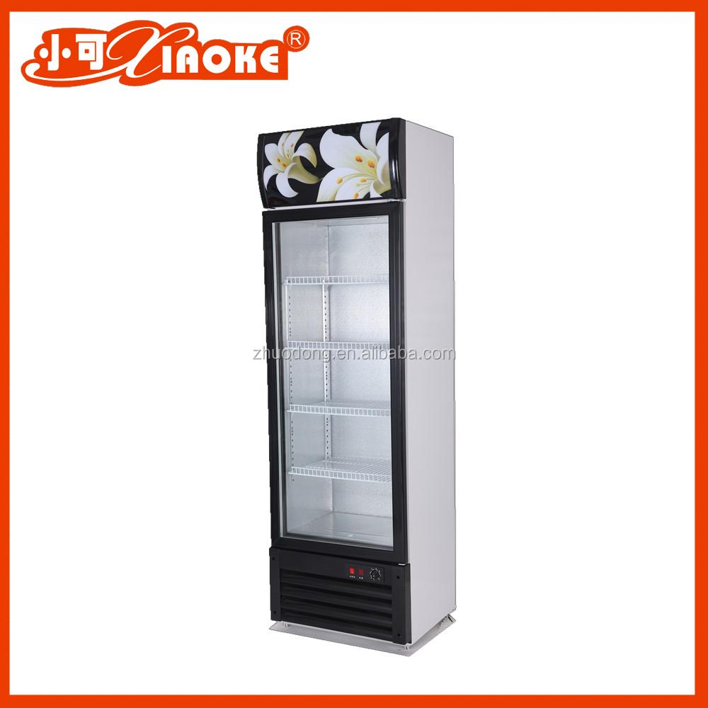 Lc 280w colored single door display chiller upright for 1 door display chiller