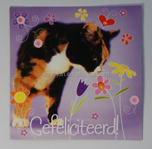 cat and flower image greeting cards
