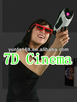 Canton Fair Hottest Items-Lowest Cost exciting 7d cinema with guns, xd gun