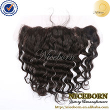 New fashion top quality Mongolian deep wave hair 13x4 inch ear to ear 120% density lace frontal closure