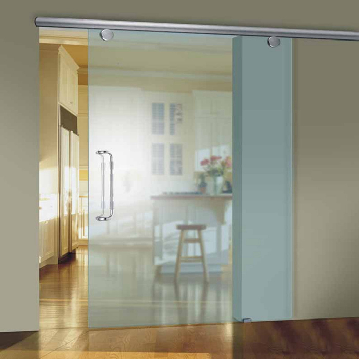 gran patio acero puertas correderas de cristal exterior sin marco puerta de granero hardware