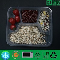 Compartment disposable takeaway food container / divided plastic box
