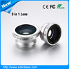 Colorful cheap zoom lens for mobile phone with 3in1 lens fish eye+Macro+0.67x wide angle lens