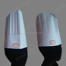 China factory top pro hat cap 80gsm disposable paper chef hats