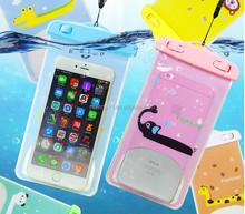 High Quality PVC Material Cartoon Logo Printed Waterproof Mobile Phone Bag