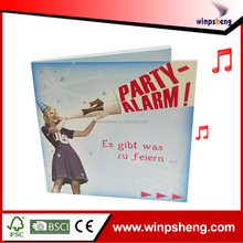 Hign End Music Invention Card For Company Congraduation