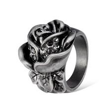 [R027]latest innovation designs black rose ring for women