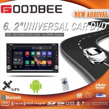 2015 Hot Sell Android Double Din universal Car DVD Player With Ipod / TV