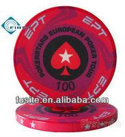 Ceramic ept chips poker 10g