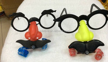 Halloween glasses blow out dragon toy,kids toy fake glasses funny party glasses toy,funny glasses frames