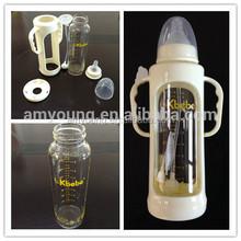 2015 hot 240ml 8oz standard neck anti-dropping glass /PP/PPSU feeding bottles for baby