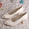 Ivory Lace Bridal Wedding Shoes 6.5CM