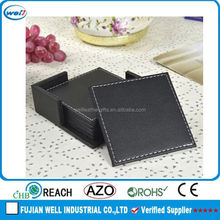 Hot sales grace leather coaster set for home