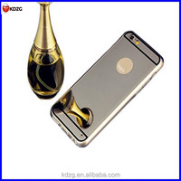 Soft TPU Hard Back Cover Luxury Bumper with Electroplating Mirror Phone Case for iphone 6