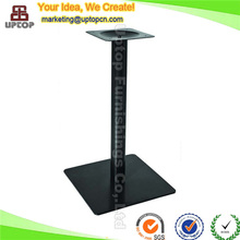 (SP-MTL141) Dark square base industrial cast iron table legs for sale