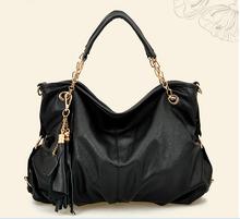Wholesale 2015 Fashion Leather Designer Lady Hobo Bag Handbag ,Logo & Color Can be Customized