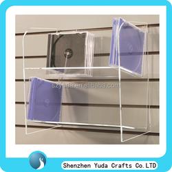 Wall mounted cheap acrylic customized VCD/ DVD/cd display shelf racks/ shelf / stand
