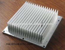 Dissipatore in alluminio di alta qualità/radiatore di calore/irradia fin per computure CPU e tv radiante